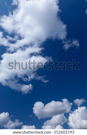 a white clouds against the blue sky - stock photo