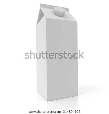 A white 3d rectangular pack concept isolated on white background. Rendered illustration.