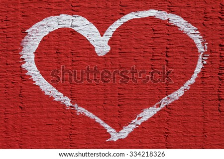 a white heart on red background, beautiful abstract background love