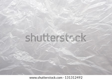 A White Plastic  Bag Texture, macro, background - stock photo