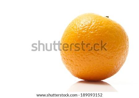 A whole Orange isolated on white background - stock photo