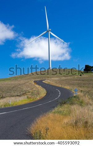 A wind farm near the town of Dalgety, New South Wales, Australia - stock photo