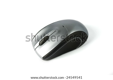A wireless personal computer mouse - stock photo
