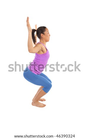 A woman showing her flexibility by doing a yoga move.