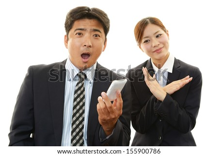 A woman who doing X mark - stock photo