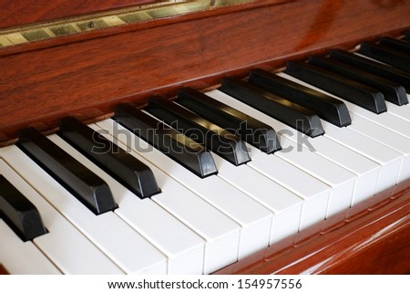 A wood Piano - stock photo