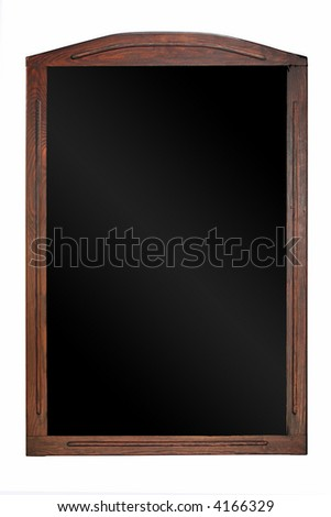 A wooden blackboard street sign - stock photo