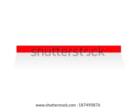 A wooden book shelve isolated against a white background - stock photo