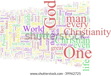 A word cloud based on Nietzsche's Antichrist