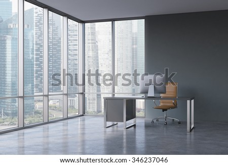 Corner Office Interior Stock Images, Royalty-Free Images & Vectors ...
