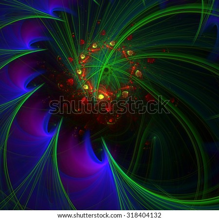 A World from the Fifth Dimension abstract illustration - stock photo
