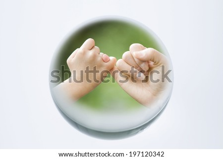 A World In The Crystal - stock photo