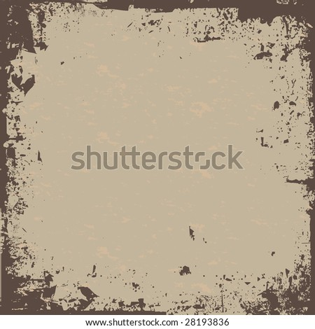 A worn looking grunge background in a earth tone. - stock photo