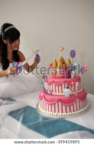 15 Year Old Hispanic Girl Celebrates Stock Photo Image Royalty