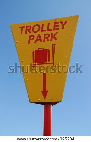 A yellow and red information sign with clipping path - stock photo