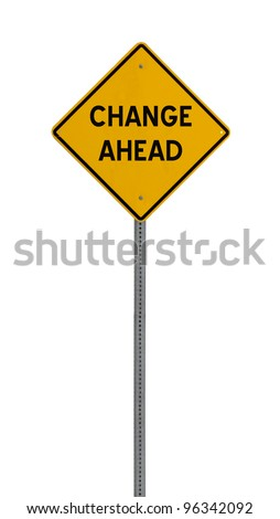 a yellow road sign with a white background for you to use in your design or presentation. - stock photo