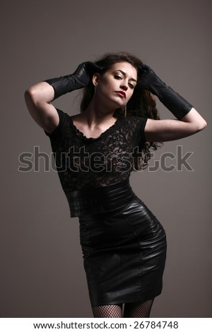 Leather Skirt Stock Images, Royalty-Free Images & Vectors ...