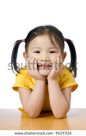 A young asian american girl smiling.  Education, Future - stock photo