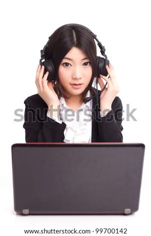 A young Asian female operator