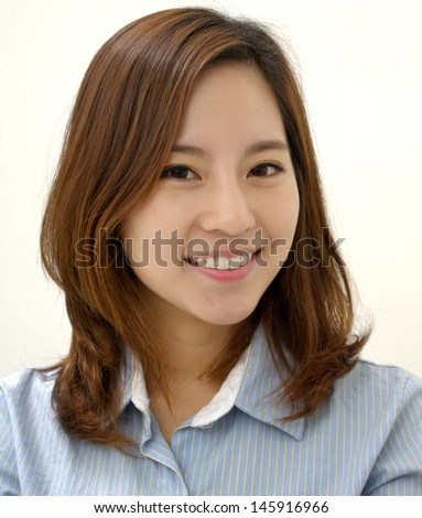 A young attractive businesswoman with a friendly smile