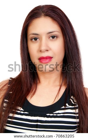 A young Beautiful Hispanic Woman with a lovely smile