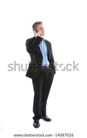 a young businessman with mobile phone - stock photo