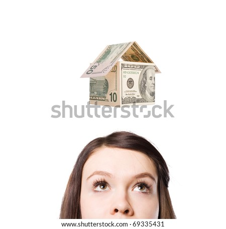 A young woman dreams of a new house and money.