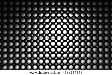 A zooming honeycomb structure for abstract background.  - stock photo
