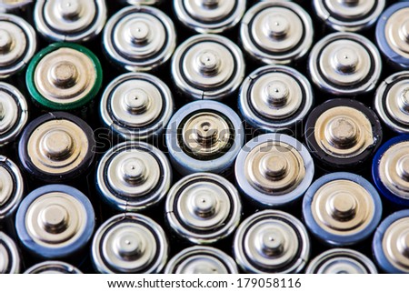 AA or pencil battery background