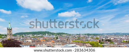 Aachen city skyline panorama