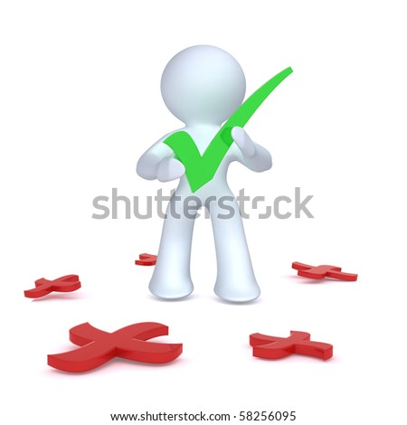 Aadmii slecting right among many wrongs - stock photo