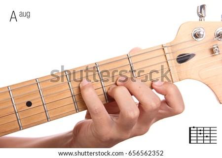 Aaug Advanced Guitar Keys Series Closeup Stock Photo 656562352