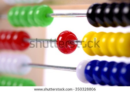 abacus as help for calculation at school
