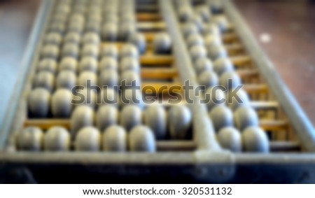 Abacus Blurred for Background