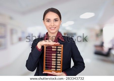 Abacus, Calculator, Old. - stock photo