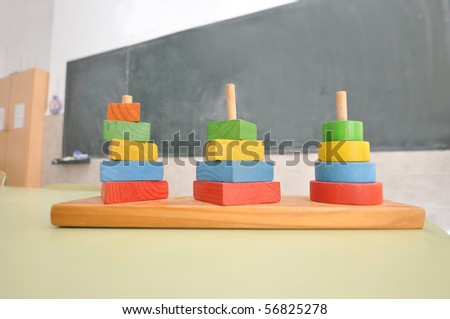 Abacus in Classroom - stock photo