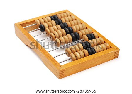 Abacus isolated on a white background - stock photo