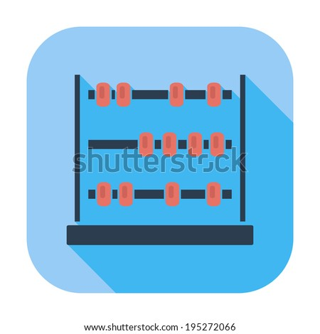 Abacus. Single flat color icon.  - stock photo