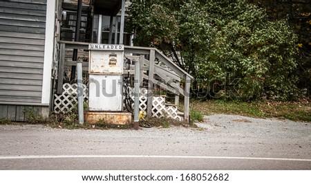 Abandon gas pump - stock photo