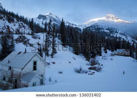 Abandon mining town near Ouray, Colorado. - stock photo