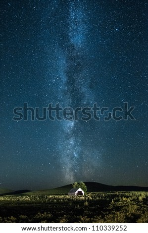 Abandoned Barn and Milky Way