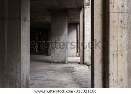 Abandoned buildings interior