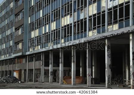 Abandoned business premises in Bristol UK - stock photo