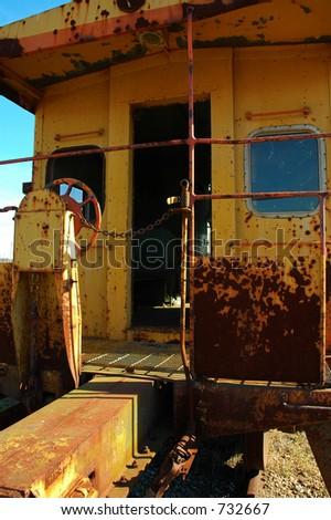Abandoned Caboose - stock photo