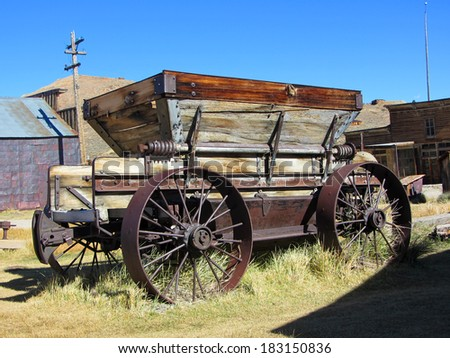 Abandoned cart in Bodie, Ghost Town, California