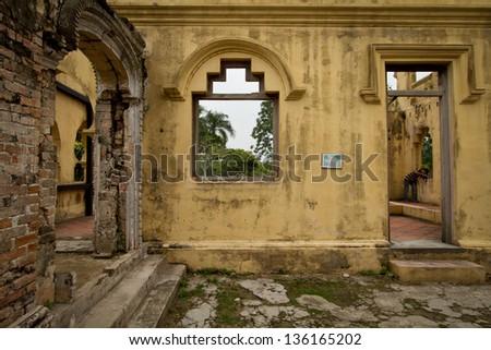 Abandoned castle - stock photo
