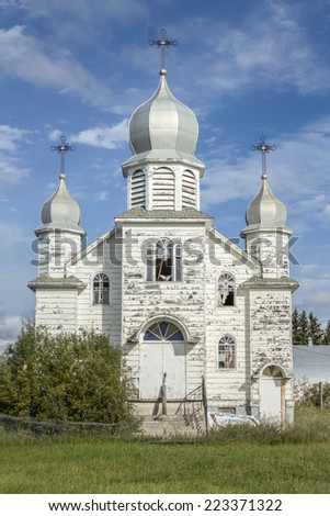 abandoned church - stock photo