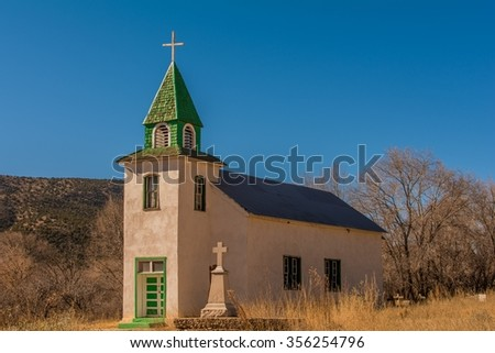 Abandoned Church in Rural New Mexico - stock photo
