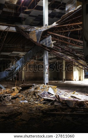 Abandoned Department Store - stock photo