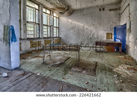 Abandoned devastated school, ready for renovation